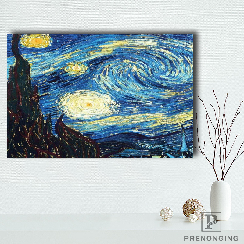 Starry Night Doctor Who Art Silk Fabric Poster Print 13x18 24x32 inches