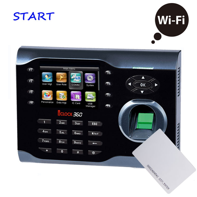 Wifi Biometric Fingerprint Time Attendance System RFID 125KHZ Card Fingerprint Reader For Employee Attendance Machine ICLOCK360