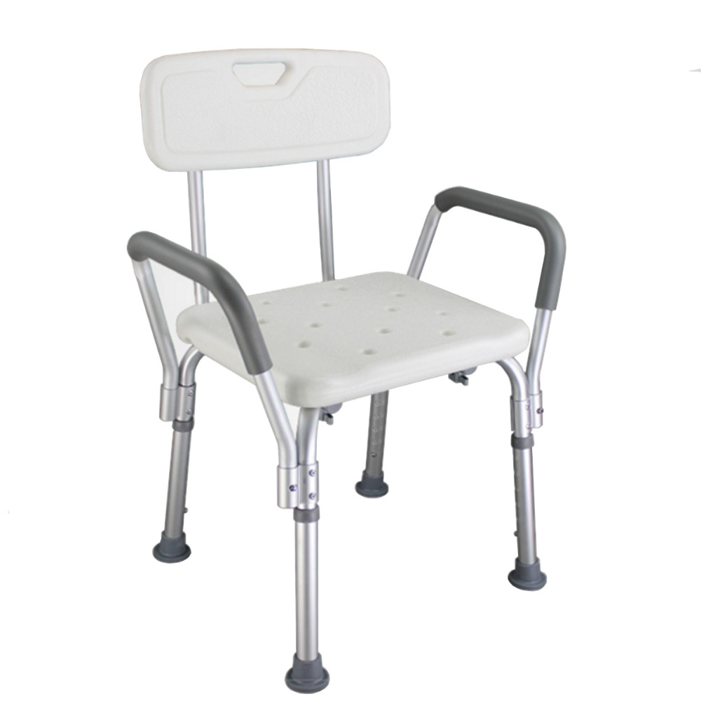Tcare Bath Shower Chair Bench Stool - Medical Bath Shower Seat Adjustable Height Bathtub Bench Chair Stool Armrest Back bathroom folding seat shower stool shower wall chair stool old people anti skid toilet stool bath wall chair