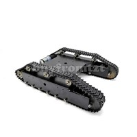 Metal RC Tank Chassis Smart Robot Chassis KT100 with 37# Motors W/O Hall Encoder Finished for DIY