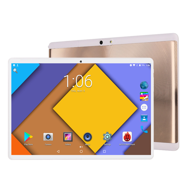 2.5D Glass Multi-touch Screen Android 9.0 10 Inch Tablet Pc Octa Core 6GB RAM 128GB ROM 3G 4G FDD LTE 1280*800 IPS Tablets Pcs