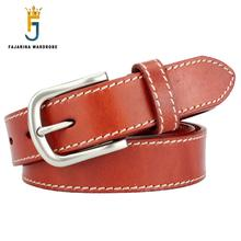 Top Quality Cow Genuine Leather Belts for Wome Can Use for more than 10 Years Designer Ladies Belt Strap Freeshipping NW0124