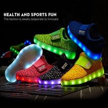 cheap for discount 8b18e f4b8c Rozmiar 25-36 dla dzieci Led USB ładowania świecące buty dla dzieci hak  pętli buty