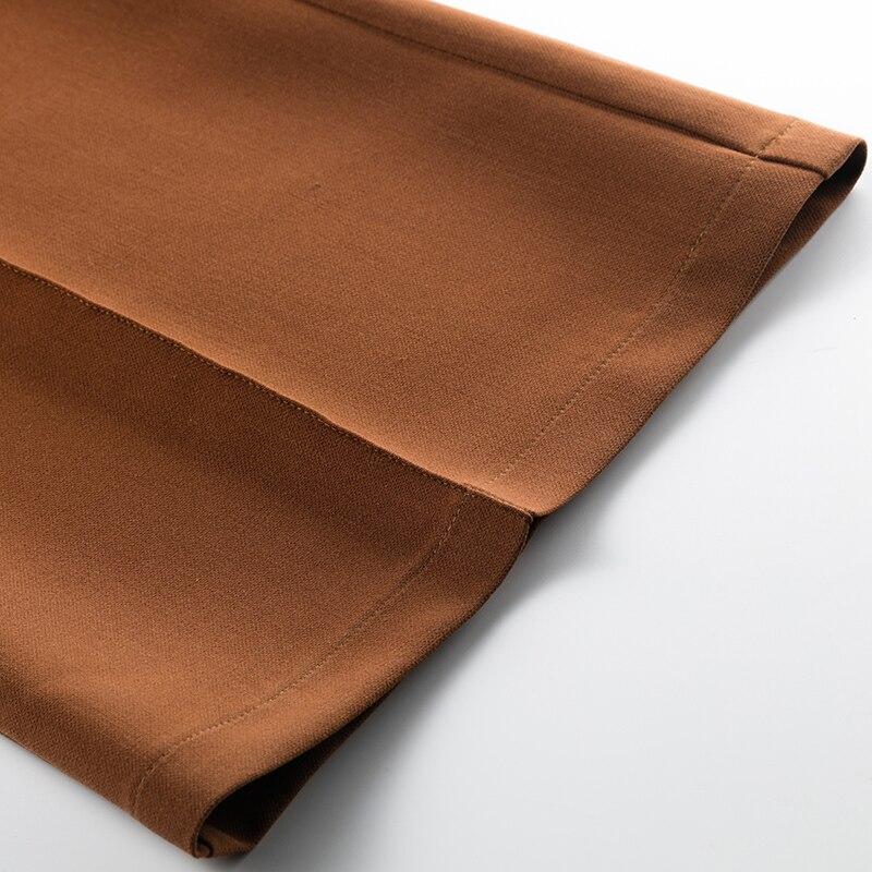 Pierna De Original Alta Sólido Ancha Primavera Pantalones Color Cintura Otoño Naranja Mujeres Y Acrmrac qR1PAS
