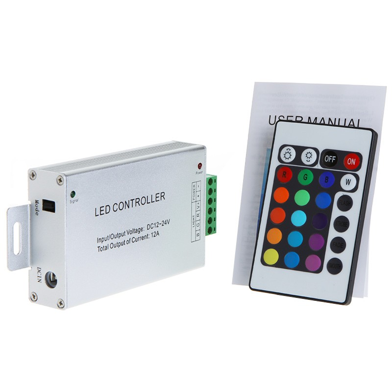 Wireless RF Controller Remote Touch Panel for RGB LED Light Strip DC 12V-24V