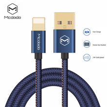 Mcdodo Lightning to USB Cable Denim Cowboy Style Data Cable For iPhone 7 Plus 8 6 6s 5s iPad Mini Fast Charging For iPhone Cable