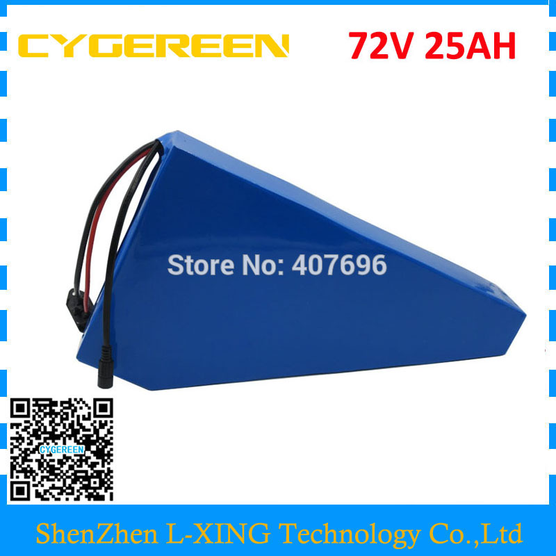 72V 25AH lithium battery 72V triangle battery 24.5AH with free bag use 3.7V 3500mah 35E cell 50A BMS 2A Charger no taxes 72v 3500w lithium ion battery electric bike battery 72v 25ah lithium ion battery pack 72v 25ah for samsung cell