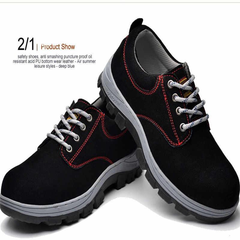 Tieguo Pauling обувь кожа сталь Baotou рабочая обувь защитная обувь износостойкая подошва анти-разбивание прокол утолщение Мягкая подошва анти
