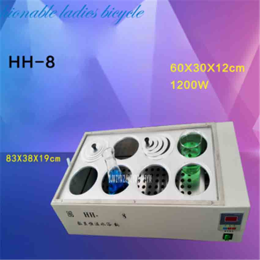HH-8 Double Row Eight Hole Water Bath Pot With Digital Constant Temperature Water Bath ,High Temperature Disinfecting Water Bath