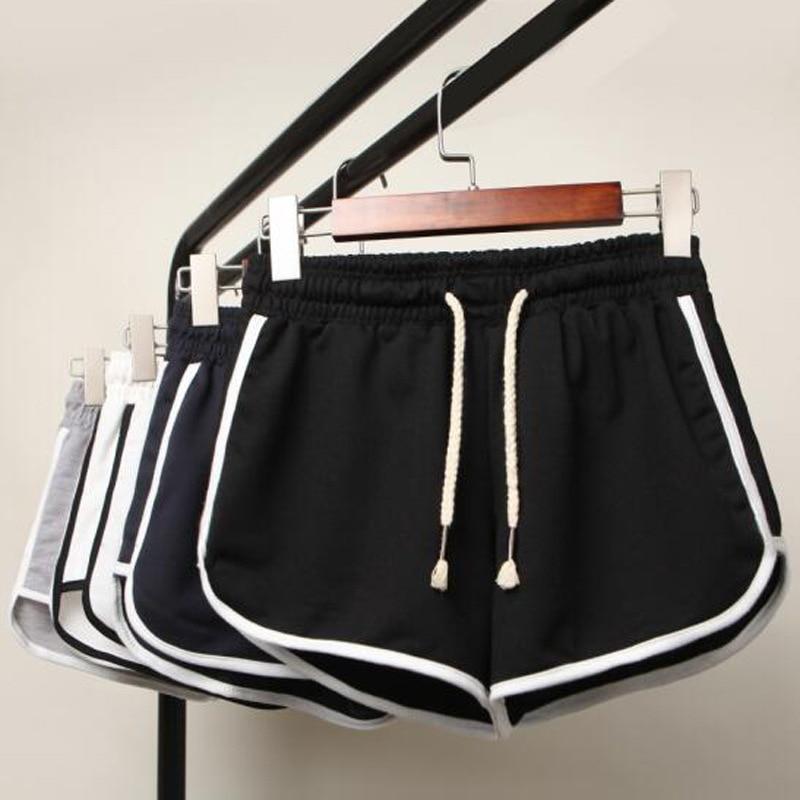 Plus Size 3XL Women Fitness Sports Running Shorts Female Cotton Gym Sweatpants Workout Skinny Shorts