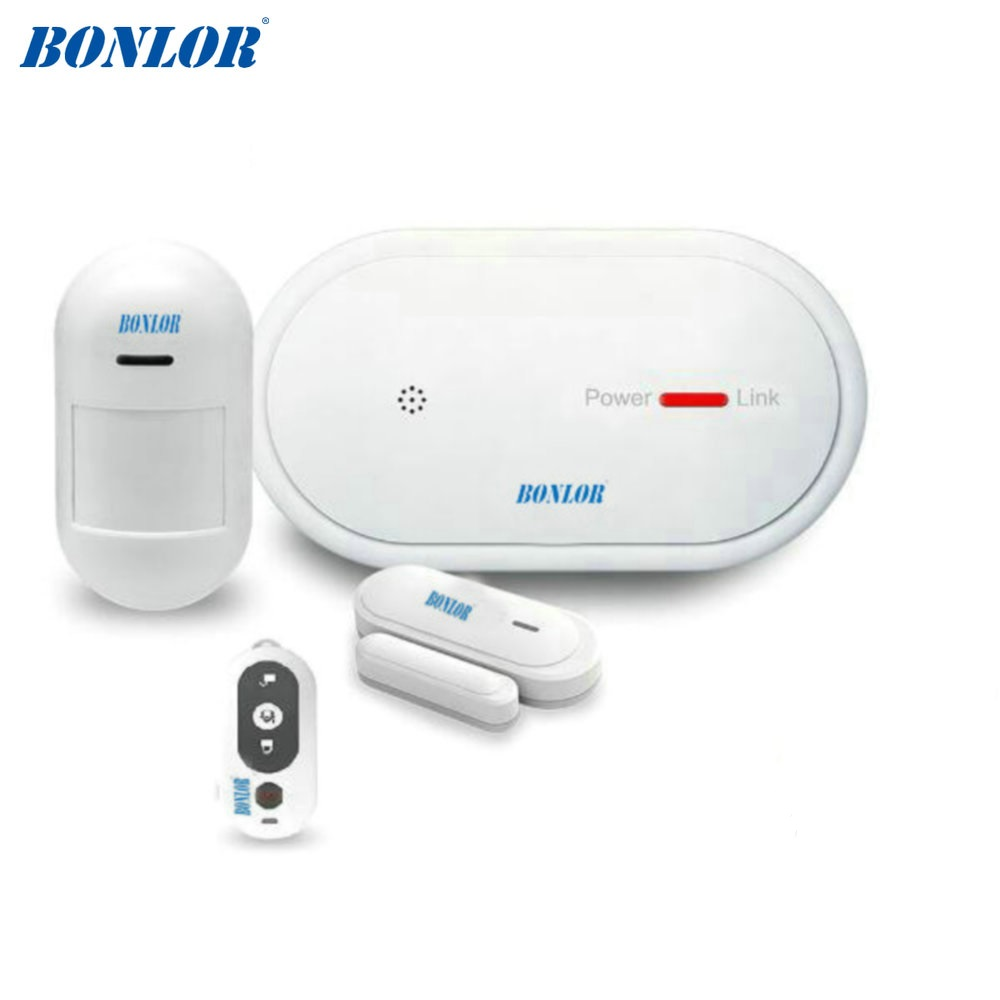 BONLOR Wireless WiFi GSM Alarm System Android ios APP Control home Security Alarm System with PIR motion sensor IP camera smoke wireless smoke fire detector for wireless for touch keypad panel wifi gsm home security burglar voice alarm system
