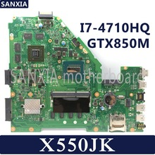 KEFU X550JD Laptop motherboard for ASUS X550JK X550JX FX50J ZX50J A550J X550J X550 Test original mainboard I7-4710HQ GTX850M