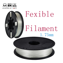 ZONESTAR 1KG/2.2lb 3D Printer Fexible Filament 1.75MM Flexible 3D Printer Filament
