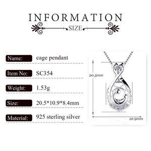 Image 2 - CLUCI 3 قطعة 925 فضة البيضاوي على شكل سحر قلادة الفضة 925 قلادة للنساء عيد الأم هدية مجوهرات SC354SB