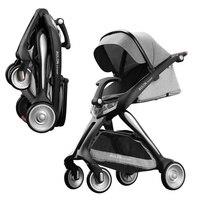 Новинка 2018 года детская тележка может сидеть на лежа Детские коляски Высокая Пейзаж легкая сумка на колесиках складной четыре колеса