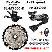 SHIMANO DEORE SLX M7000 Groepset MTB Mountainbike 1x11-Speed 46 T 50 T SL + RD + SUNSHINE + X11.93 m7000 Versnellingspook Achterderailleur