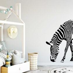 Creative Zebra Vinyl Wall Stickers Decor For Kids Room Bedroom Decoration Sticker Murals Decals murauxstickers