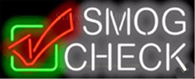 """Smog Überprüfen Auto Rohr Neon sign Bier Club Handcrafted Automotive zeichen Shop Shop Business Schild Signage 17 """"x 14"""""""