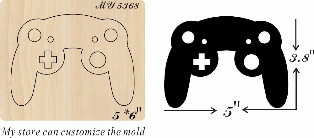 video game controller new wooden mould cutting dies for scrapbooking Thickness 15 8mm