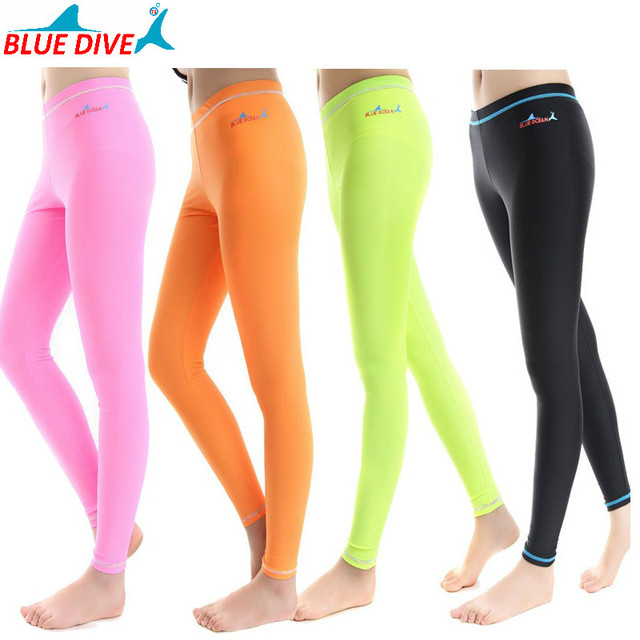 0f121b211 UV Protection Diving Pants Wetsuit Woman Swimming Pants Windsurfing Suits  Trousers Yoga Fitness Leggings Suits Women