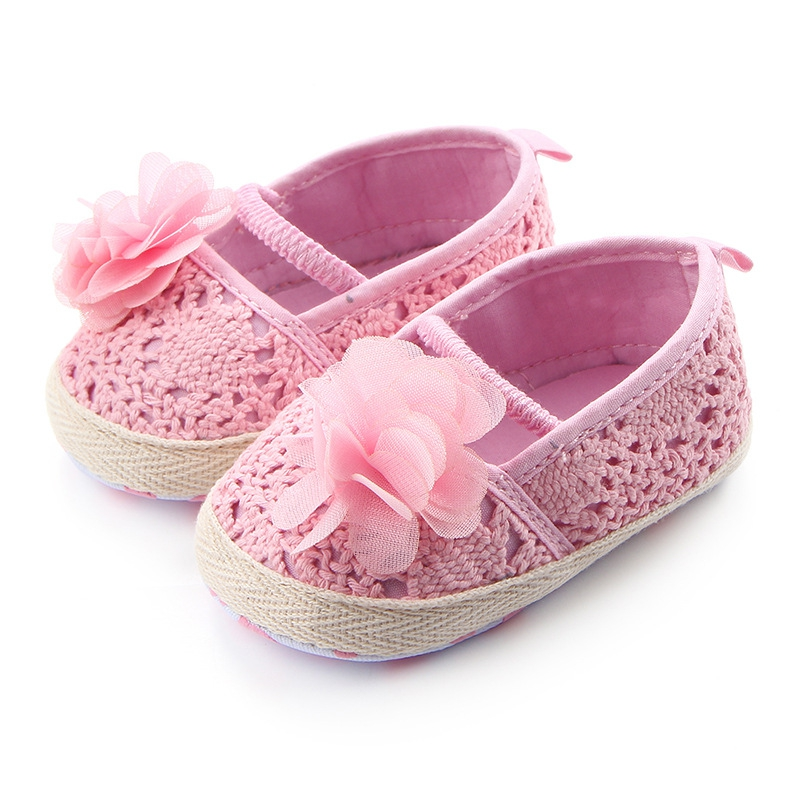 Dress Babe Walking-Ballet Shoes Soft-Soled Baby-Girl Mary Jane Knit Summer Cradle Hollow