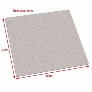 Image 2 - 1pc 99.96% 순수 1mm 두께 니켈 시트 플레이트 100mm * 100mm 실버 전기 도금