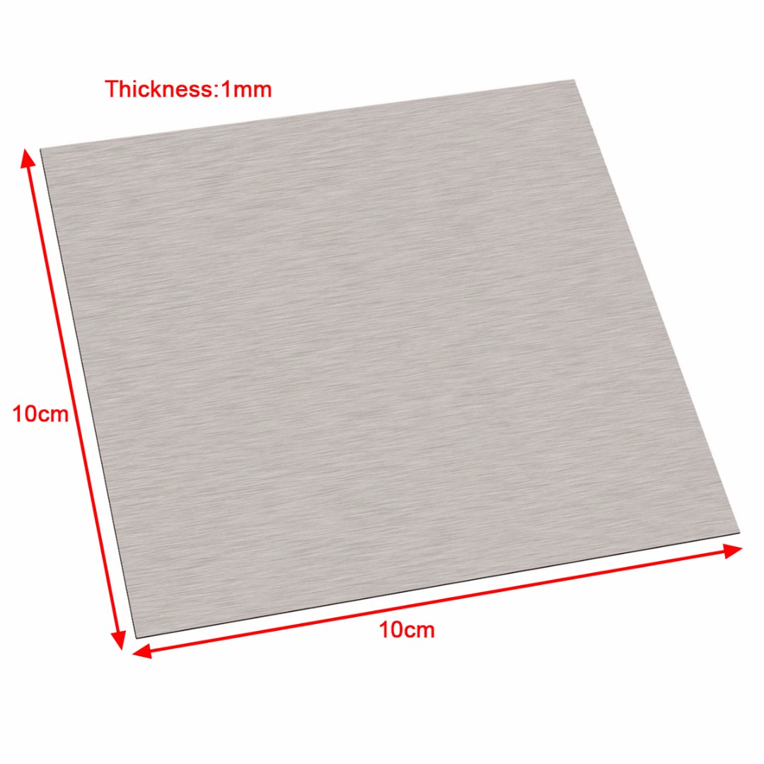 Image 2 - 1pc 99.96% Pure 1mm Thickness Nickel Sheet Plate 100mm*100mm Silver For Electroplating-in Tool Parts from Tools