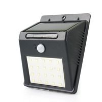 20 LED Solar Motion Sensor Light Wall Lamp Outdoor Lighting Waterproof Detector Activated For Patio Garden