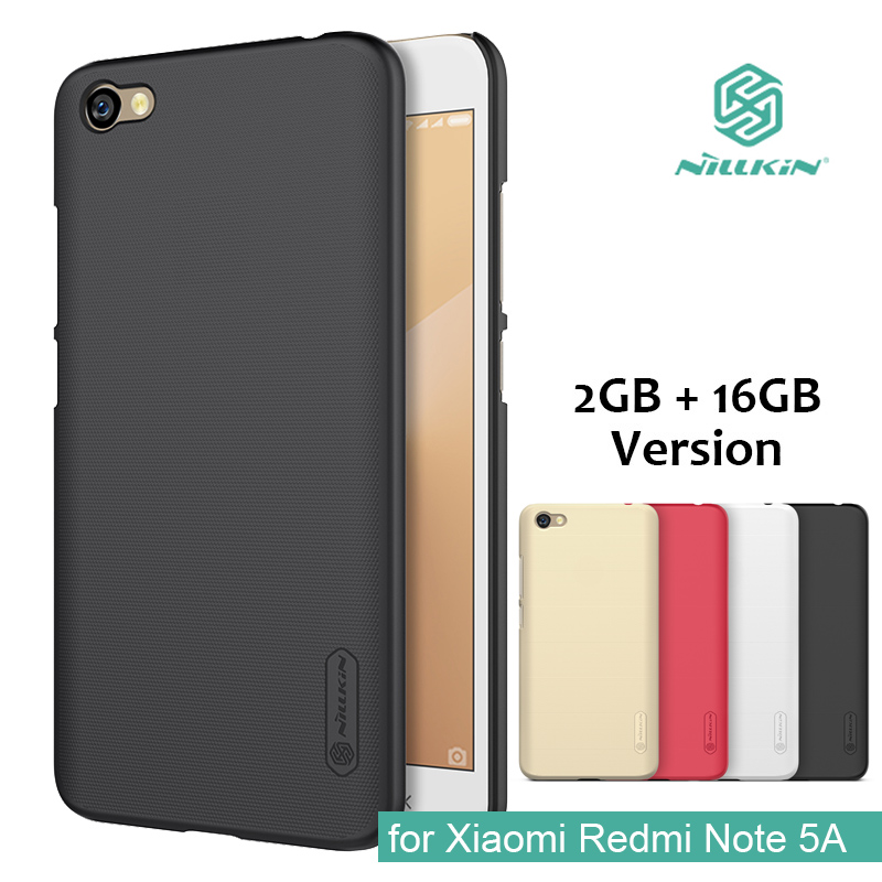 for Xiaomi Redmi Note 5A Nillkin Super Frosted Shield Hard Back PC Cover Case for Redmi Note 5A Phone Case + Screen Protector