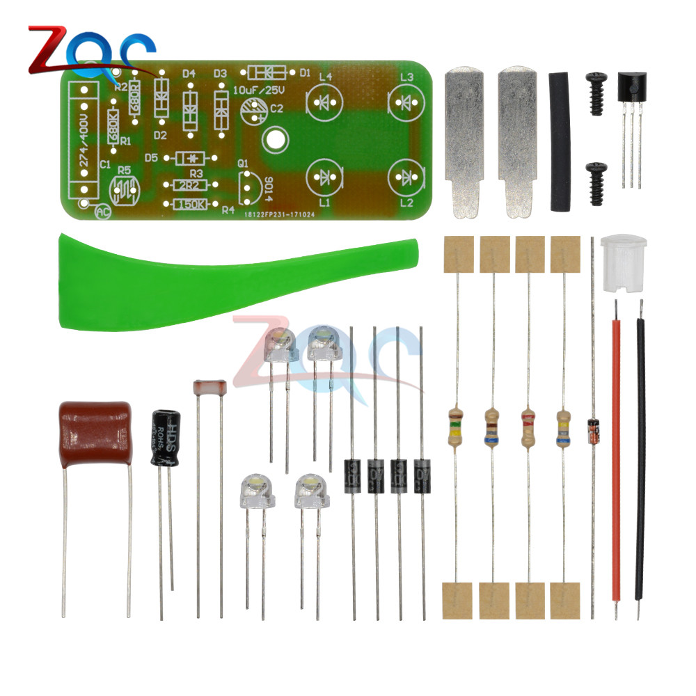 1W LED Light Control Night-Light DIY Kit Photosensitive Sensor CON-L Nightlight Electronic Production Suite Electronic DIY Kit 5