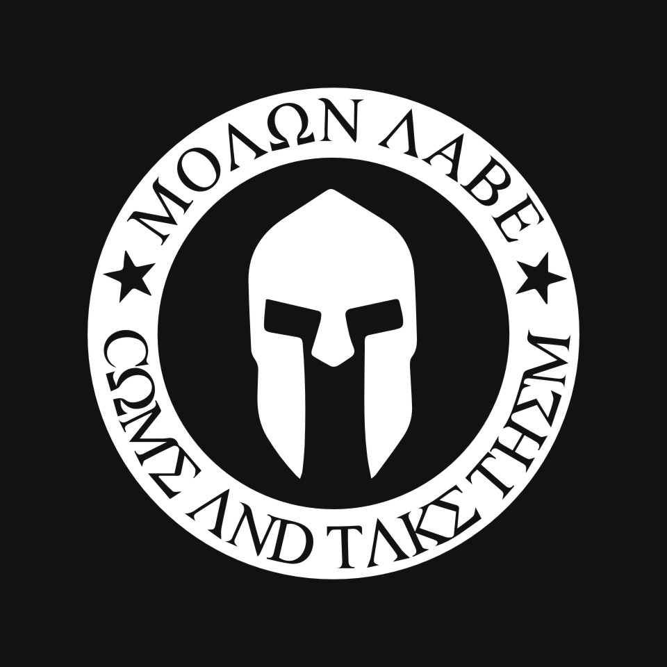 10CMX10CM Molon Labe Spartan Helmet Car Bumper Stickers and Decals Car Styling Decoration Door Body Window Vinyl Stickers (4)