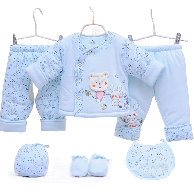 2017 New Winter Coat Dress Suit Newborn Baby Thickened  Months Baby Cotton Winter
