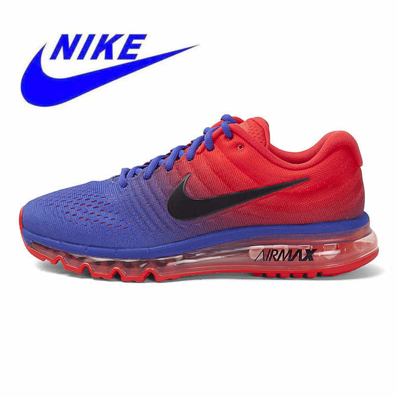 buy popular e7fae c0aea ... Original Nike Air Max 2017 Breathable Men s New Arrival Official Sports  Sneakers Running Shoes size7-