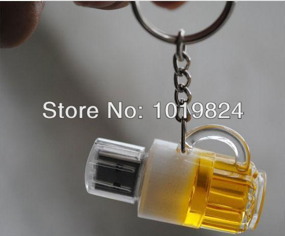 100% real capacity 2GB 4GB 8GB 16G New Genuine Capacity Cup Beer USB 2.0 Flash Memory Stick Pen Drive S28