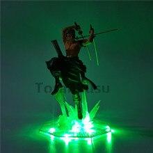 One Piece Action Figure Roronoa Zoro Led Light Figuarts 200mm
