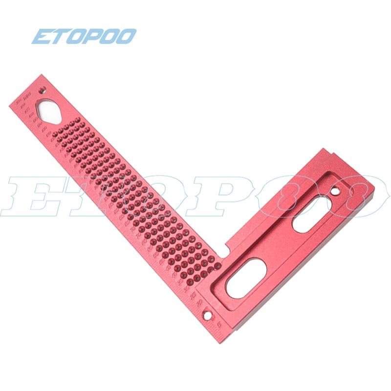 1 шт. алюминиевый сплав 90 градусов квадраты L форма прямой угол линейка Scriber калибр плотник деревообрабатывающие инструменты