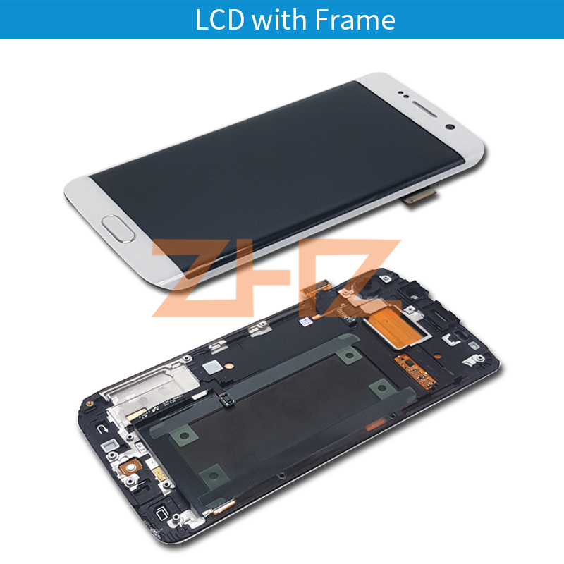 Image 3 - For Samsung Galaxy S6 Edge lcd display touch screen digitizer assembly G925 G925F SM G925F with frame replacement repair part