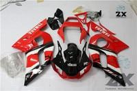 完全なフェアリングyamaha yzf r6 r6 1998 1999 2001 2002プラスチック射出オートバイフェアリングuv 23