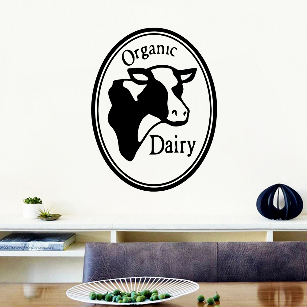 American-Style Organic Dairy Wall Art Sticker Modern Decals Quotes Vinyls Stickers Kids Room Nature Decor removable mural