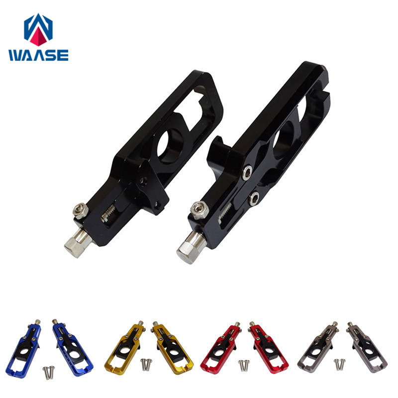 waase Motorcycle Chain Adjusters Tensioners Catena For <font><b>Honda</b></font> CBR600RR <font><b>CBR</b></font> <font><b>600</b></font> RR Fireblade F5 PC40 2007 <font><b>2008</b></font> 2009 2010 2011 2012 image