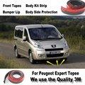 Car Bumper Lips For Peugeot Expert Tepee / Front Spoiler Deflector / Body Kit / Strip Skirt / Anti-Scratch Stickers