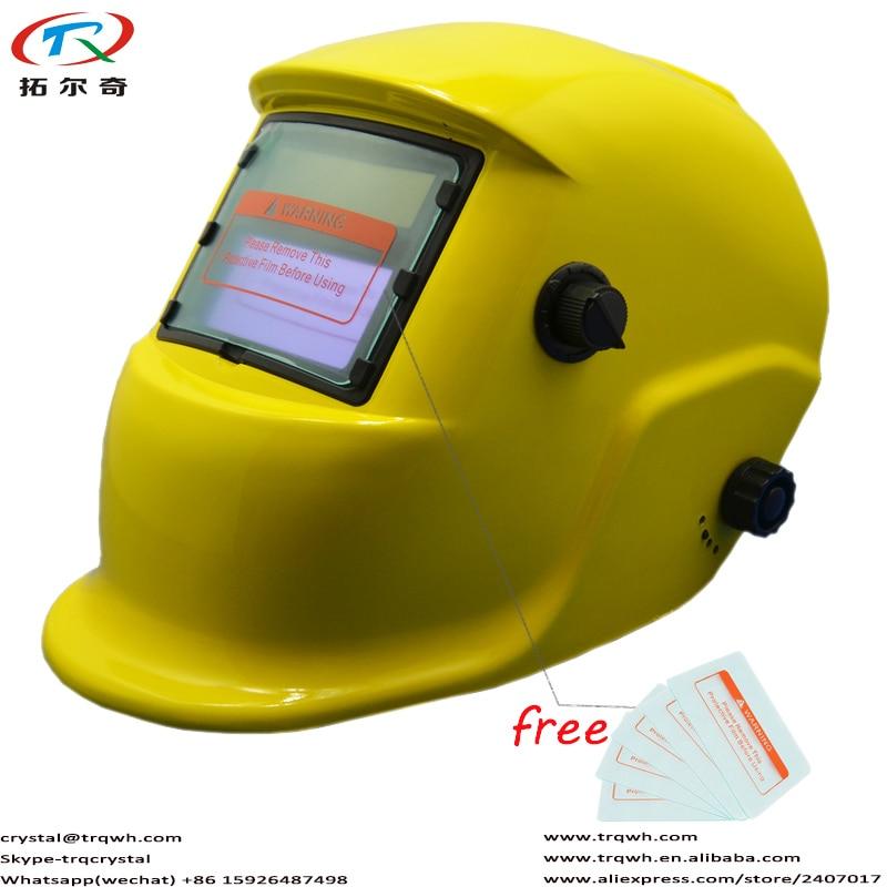 Arc Argon Welding Helmet Eyes Protection Fast Chameleon Darken Filter With American Ealge Design Welding Glove Trq-hd10-2200de Welding & Soldering Supplies
