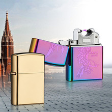 Импульсно-Дуговой Зажигалка USB Зажигалка Электронная Зажигалка Ветрозащитный Плазменный Гром Металлический Аккумуляторная Сигары Зажигалка Нет Огня