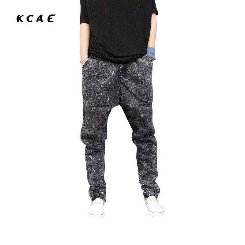 Harem jeans mens joggers casual male hip-hop pants skinny pants taper loose Elastic pants Pencil Jeans Men pants Big Size M-5XL loose lace up casual mens pencil pants