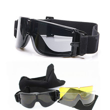 Syze dielli taktike të zeza Airsoft të Zeza USMC syze dielli taktike USMC Ushtri Airsoft Paintball syze 3 thjerrëza X800
