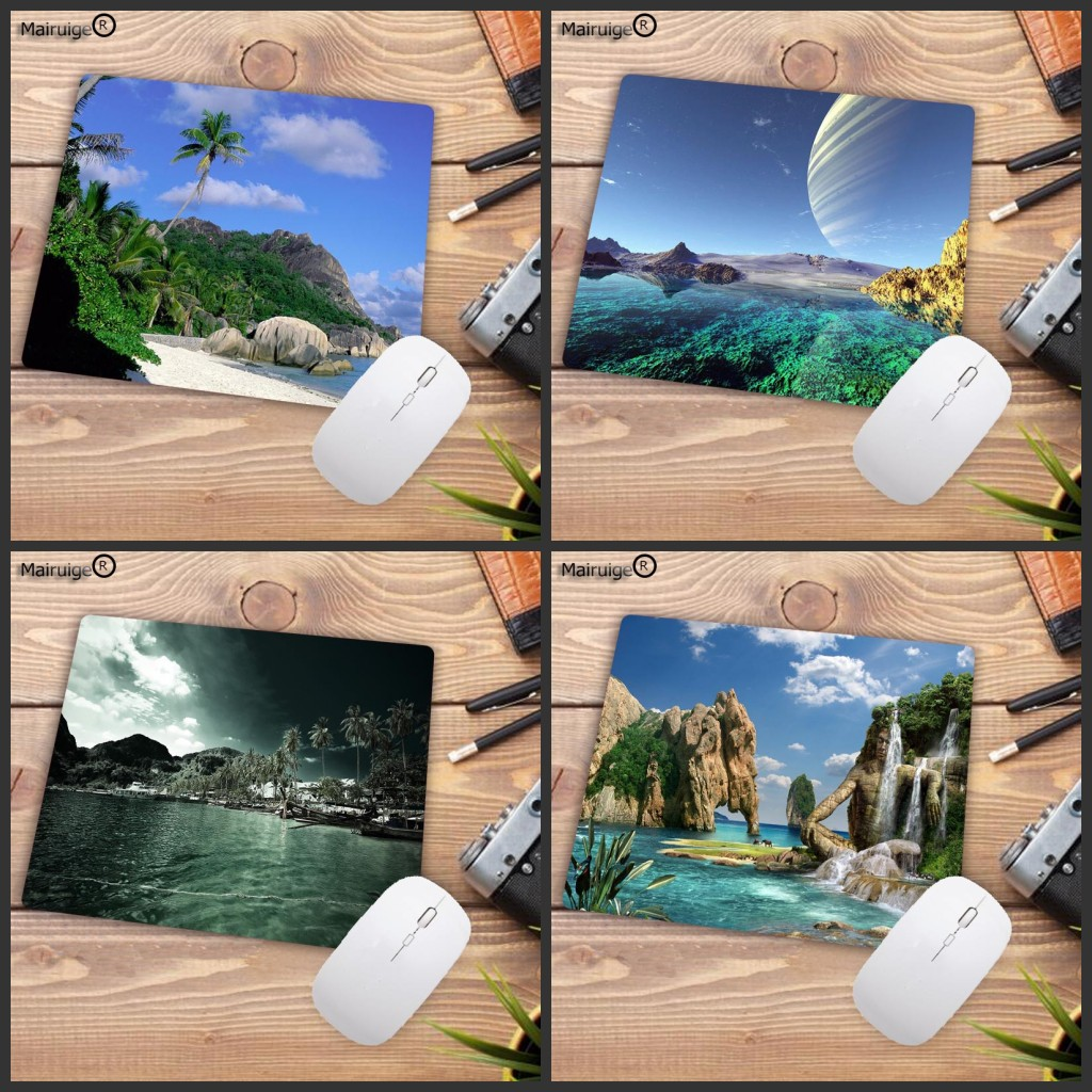 Mairuige Big Promotion Natural Scenery Lakeside Printed Mousepad For Decorate Desktop Table Creative Small Mouse Pad 180*220MM