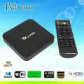 Последние Set Top Box S905X TX3 PRO Android 6.0 Amlogic Quad core 1 Г/8 Г Android TV Box HDMI H.265 WI-FI Media Player Smart tv box