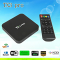 Mais recente Set Top Box S905X TX3 PRO Android 6.0 Amlogic Quad core 1G/8G Android TV Box HDMI H.265 WIFI Media Player caixa Smart tv