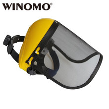 0b19bf4377a WINOMO Wire Mesh Chainsaw Protective Helmet Face Shield with Visor Combo  for Brush Cutter Chainsaw Trimmer Lawn Mower
