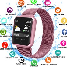 все цены на Bluetooth Smartwatch P68 support Blood Oxygen Pressure Heart Rate IP68 Waterproof Sports Smart Watch for xiaomi huawei iphone онлайн
